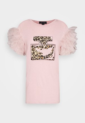 PERFUME RUFFLE - Camiseta estampada - light pink