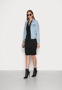 Banana Republic - WRAP DRESS - Jersey dress - black - 1