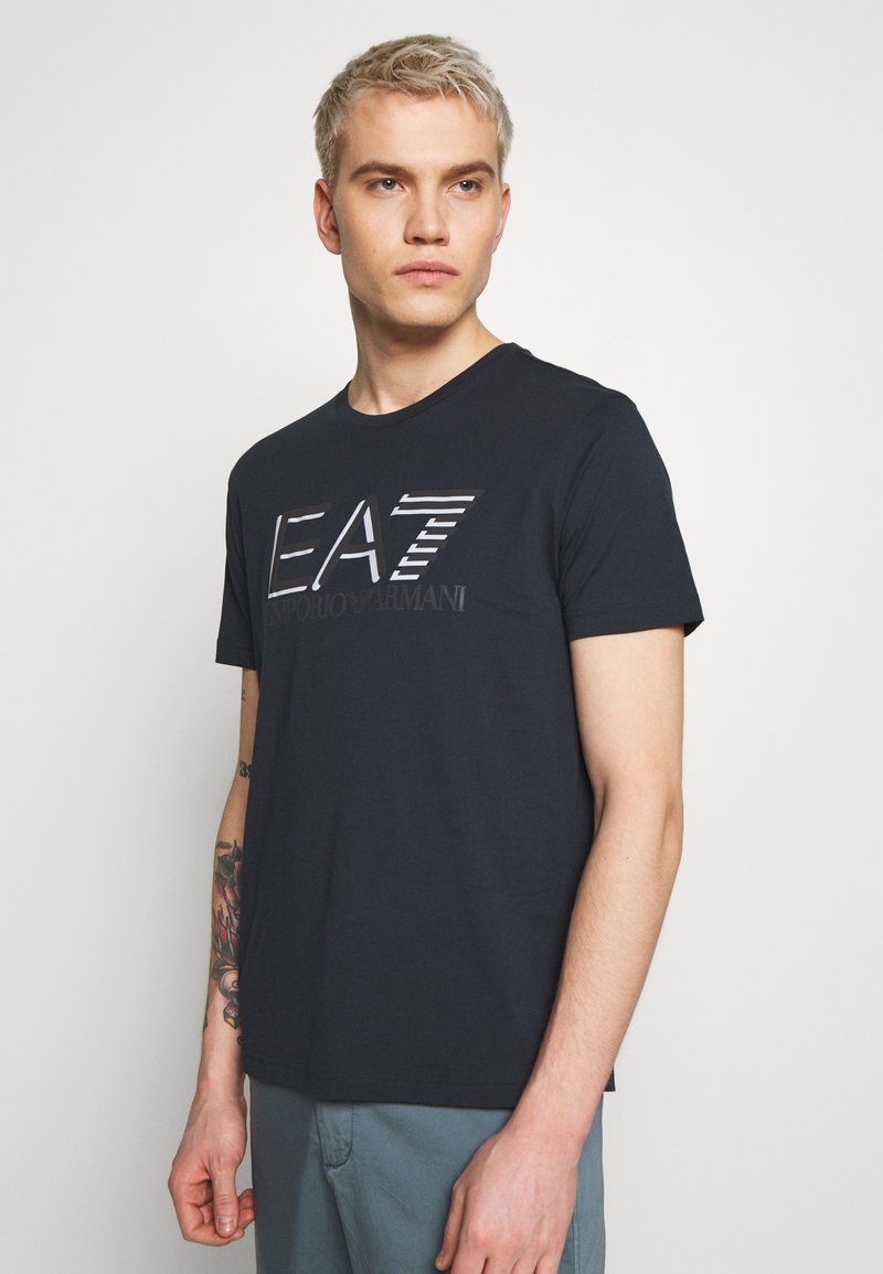 EA7 Emporio Armani - T-shirt imprimé - blu notte