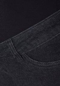 MAIAMAE - STRAIGHT LEG CROP - Straight leg -farkut - washed black - 2