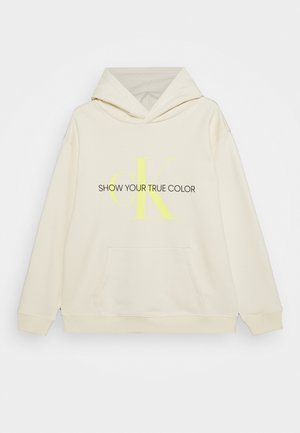 NATURAL DYE MONOGRAM HOODIE - Hoodie - yellow