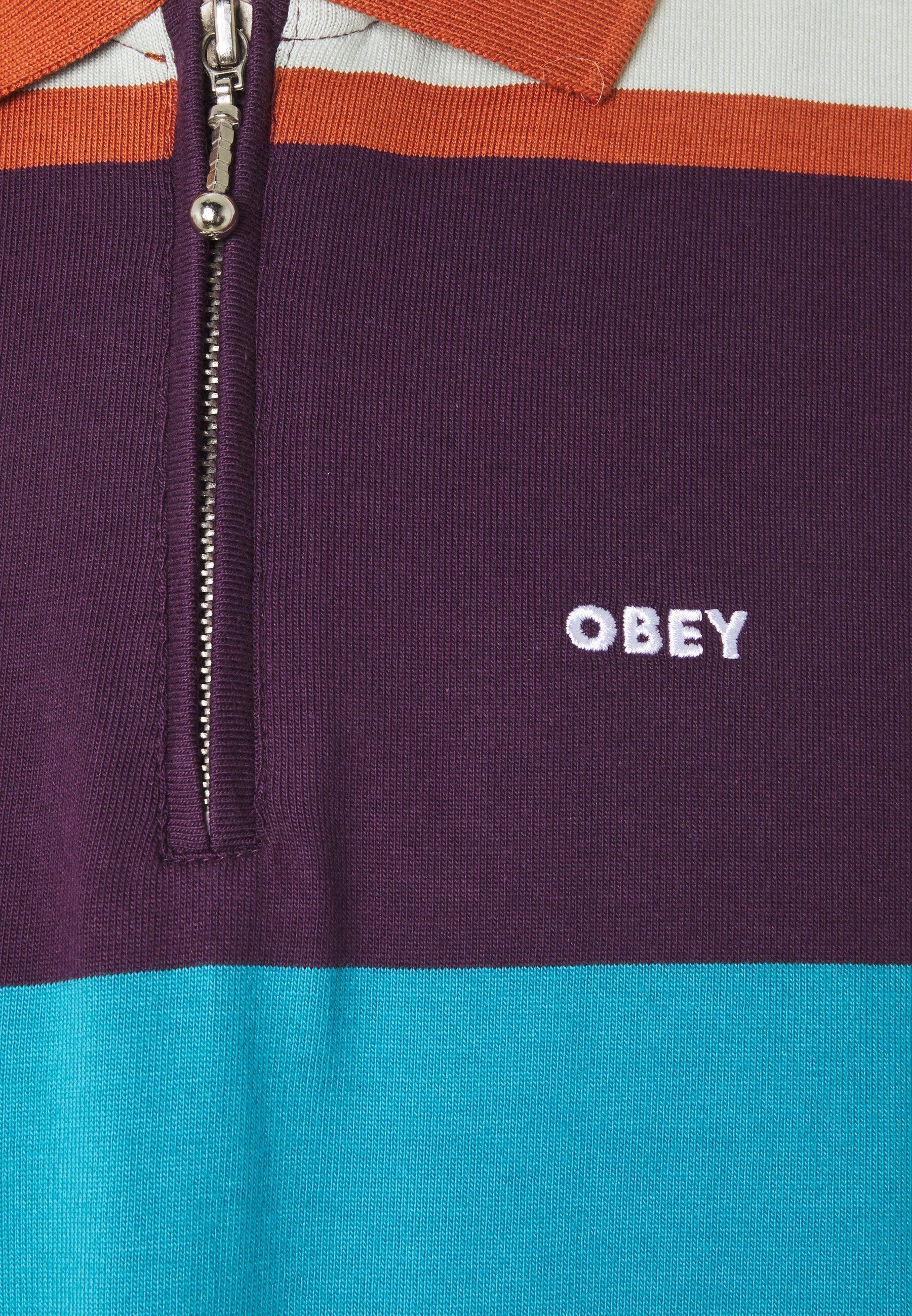 Obey Clothing STRUCTURE  - Poloshirt - purple multi/lila - Herrenbekleidung 9c4w4