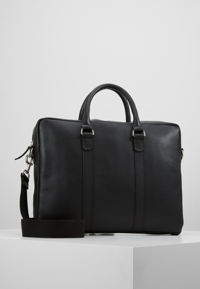 Pier One - LEATHER - Briefcase - black