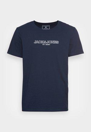JJBANK TEE CREW NECK - T-shirt con stampa - navy blazer