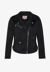 ONLY Carmakoma - CARSHERRY BONDED BIKER - Faux leather jacket - black - 5