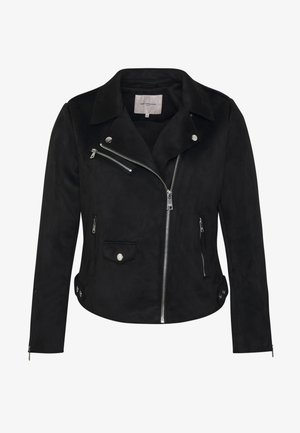 CARSHERRY BONDED BIKER - Faux leather jacket - black