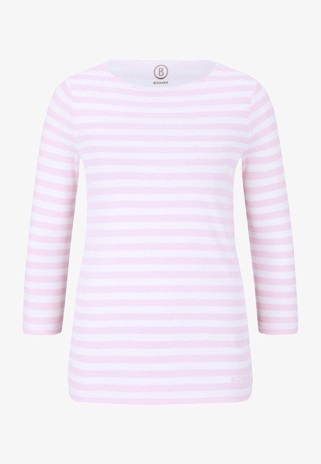 LOUNA - T-shirt à manches longues - rosé/weiß