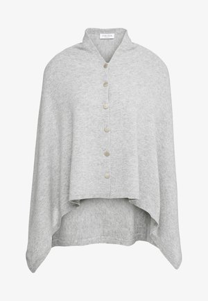 PONCHO WITH BUTTONS - Cape - light grey