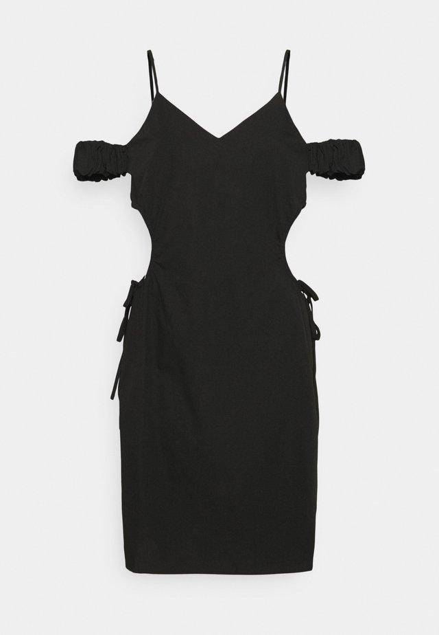 CUT OUT MINI DRESS - Sukienka etui - black
