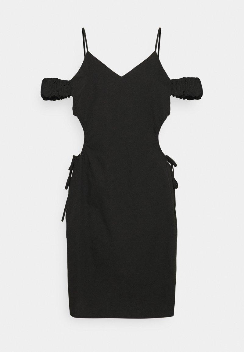 NA-KD - CUT OUT MINI DRESS - Shift dress - black