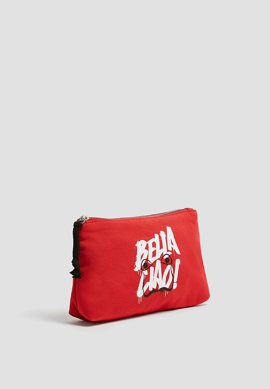 Pull Bear La Casa De Papel Wash Bag Black Zalando De