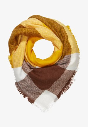 ONLALDINI SQUARE SCARF  - Šátek - cadmium yellow/cloud dancer/cap