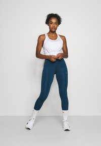 Nike Performance - ONE COLORBLOCK - Tights - valerian blue/black/cool grey - 1