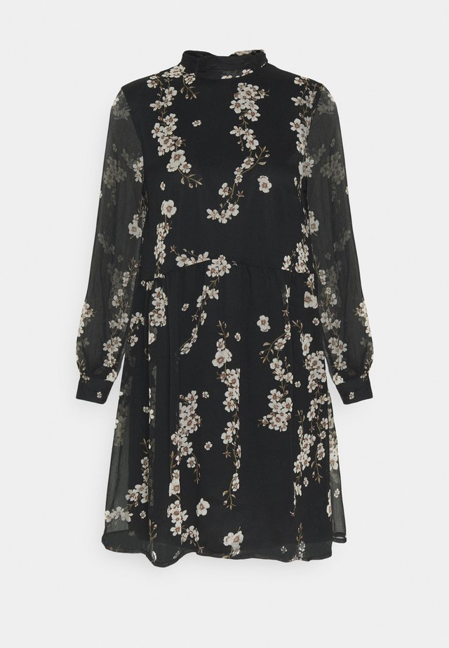 VMTILI HIGH NECK SHORT DRESS - Robe d'été - black