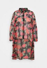 Simply Be - BLURRED FLORAL MAXI SHIRT - Skjorte - black - 4