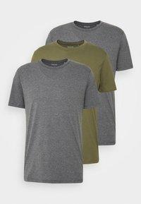 Burton Menswear London - 3 PACK - Basic T-shirt - grey - 0