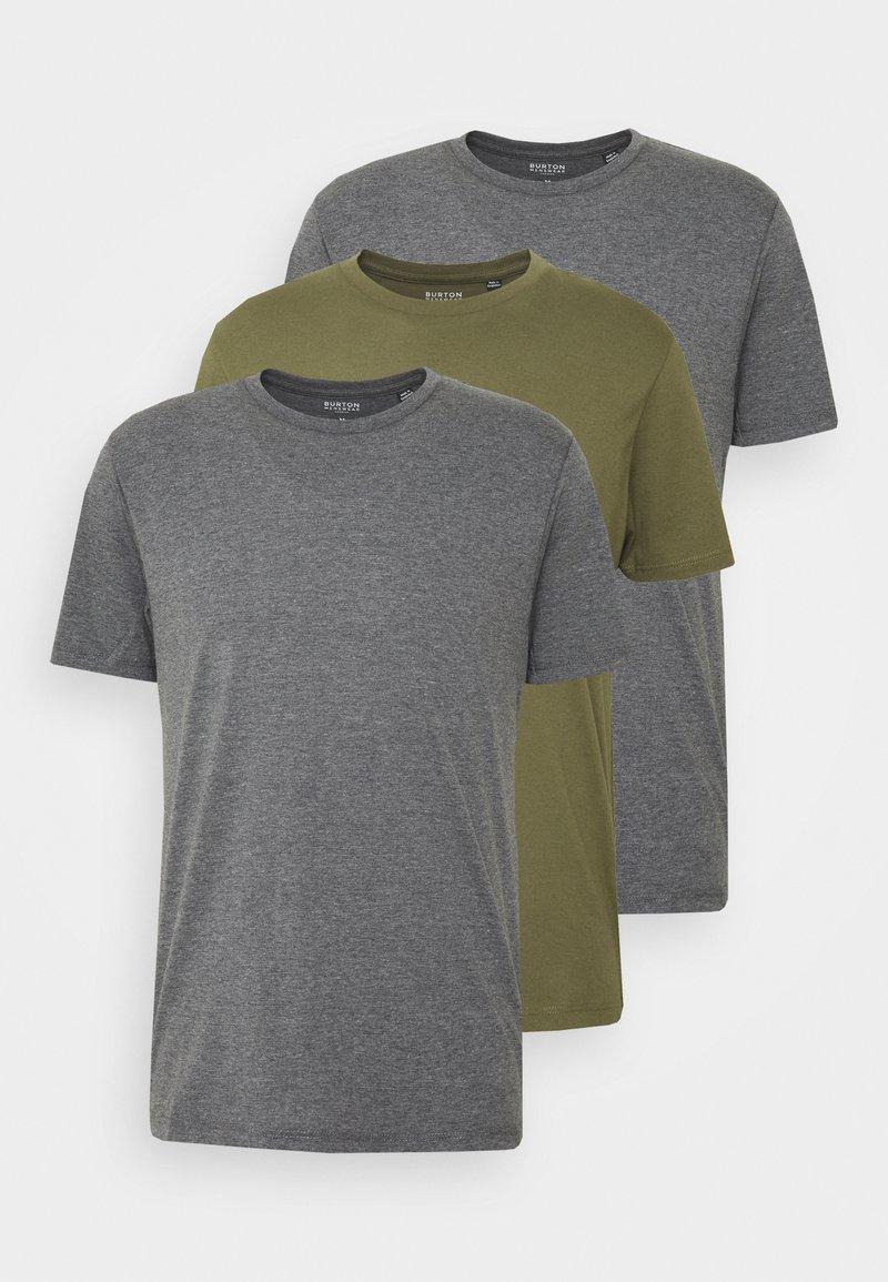 Burton Menswear London - 3 PACK - Basic T-shirt - grey