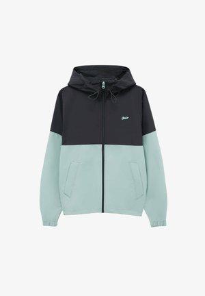 MIT COLOUR-BLOCK - Sweat à capuche zippé - mottled black