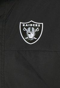 Fanatics - NFL OAKLAND RAIDERS ICONIC BACK TO BASICS HEAVYWEIGHT JACKET - Sportovní bunda - black - 6
