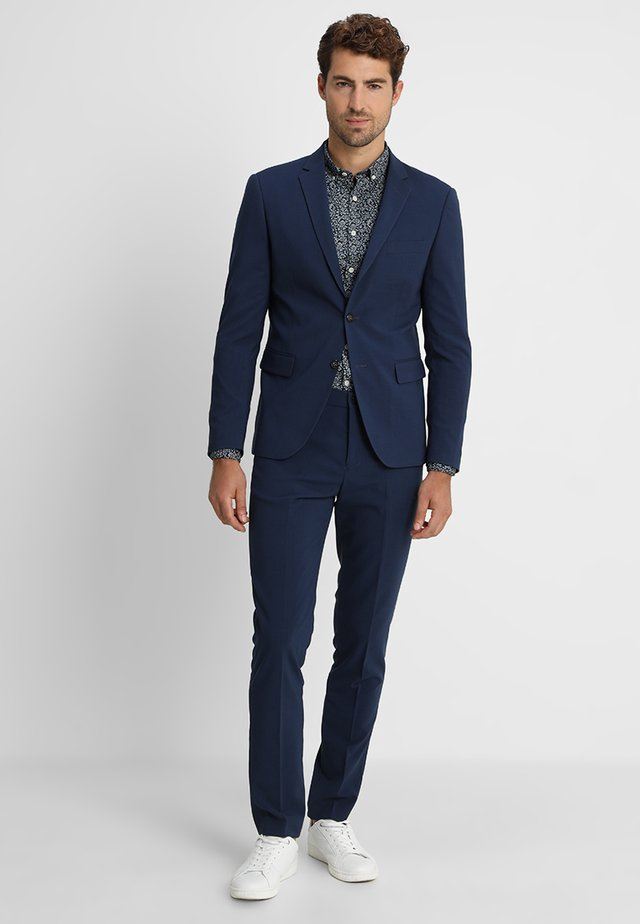 PLAIN MENS SUIT - Suit - dark blue