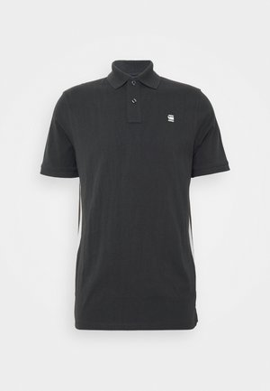 SIDE STRIPE POLO S\S - Polo shirt - raven