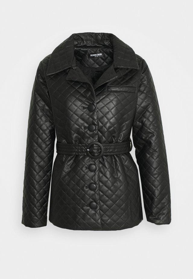 FINLO - Cappotto corto - black