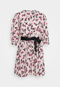 Closet - WRAP GATHERED HEM DRESS - Day dress - pink - 4