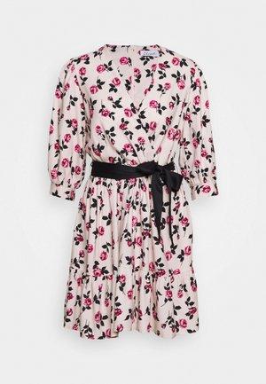 WRAP GATHERED HEM DRESS - Day dress - pink