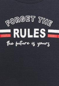 Blue Seven - TEEN GIRL FORGET THE RULES - Print T-shirt - dark blau - 2