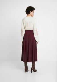 Anna Field - Plisse A-line midi skirt - A-line skjørt - winetasting - 2