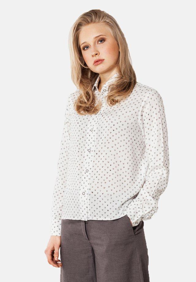 MIT PRINT  - Button-down blouse - weiß