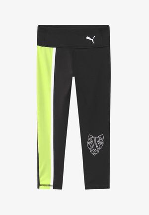 RUNTRAIN - Legginsy - black/sharp green