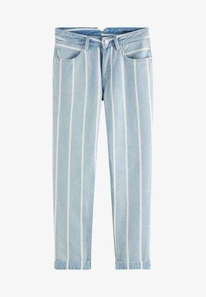 BOYFRIEND - Straight leg jeans - indigo stripe