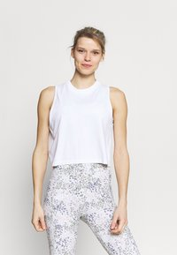 Cotton On Body - LIFESTYLE SEAMLESS YOGA CROPPED TANK - Top - white - 0