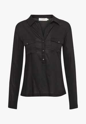 HONEY SHIRT - Button-down blouse - pitch black
