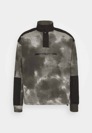 TIE DYE FUNNEL NECK OVERHEAD - Sweatshirt - charcoal