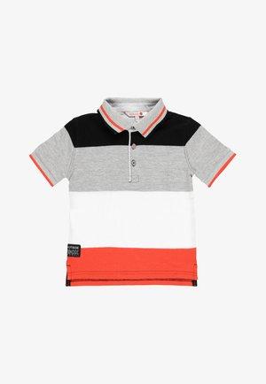 Poloshirt - grey/white
