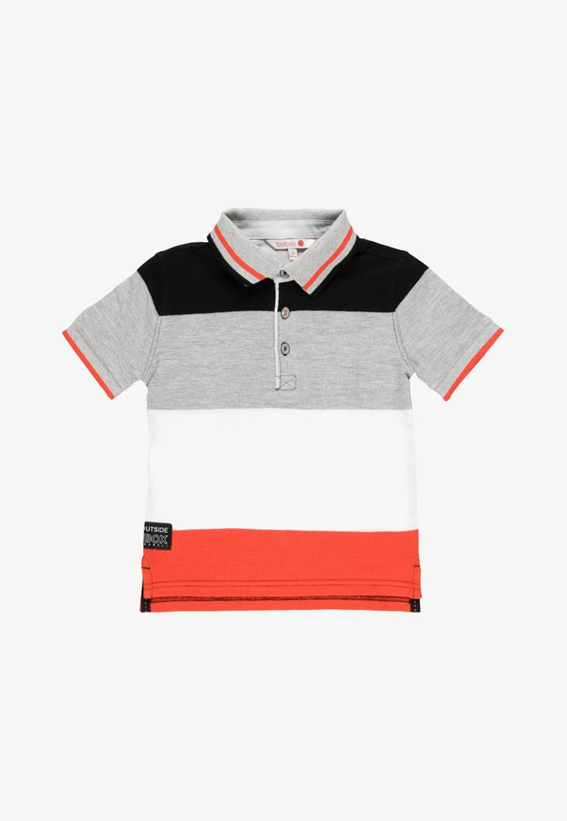 Poloshirt - grey/white