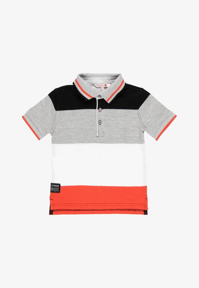 Boboli - Polo shirt - grey/white