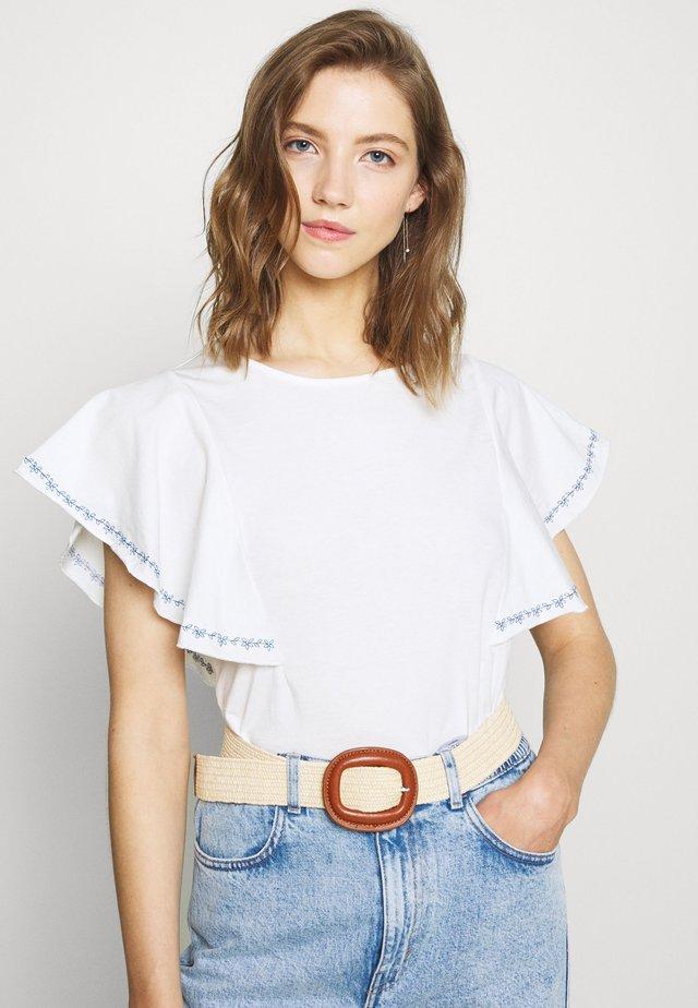 VIOPPA STITCH DETAIL - T-shirt con stampa - cloud dancer/navy