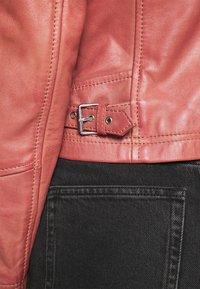 Oakwood - TERRY - Kožená bunda - old pink - 3