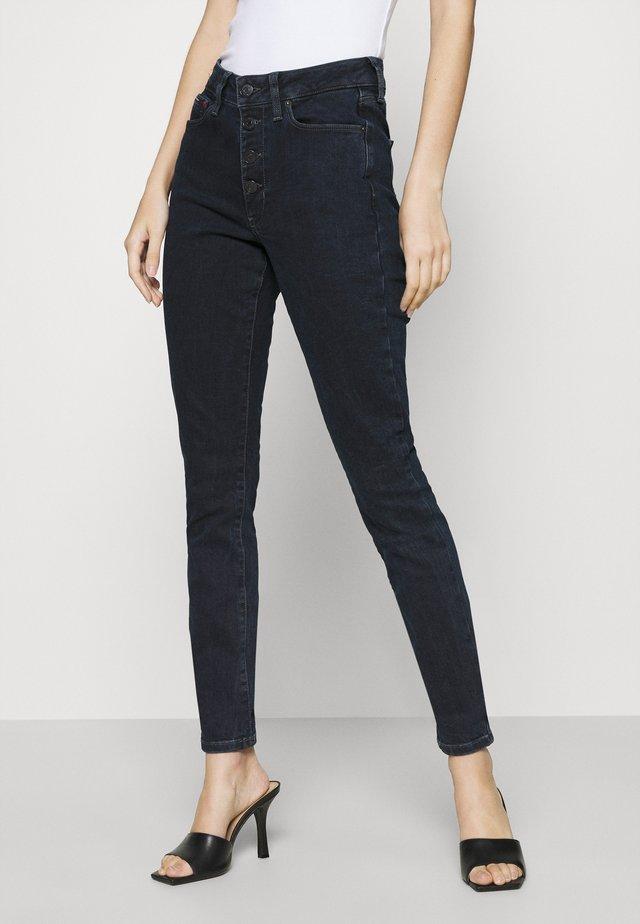 SYLVIA  - Jeans Skinny Fit - lemon dark blue stretch