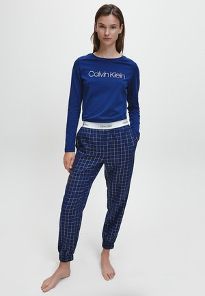 Pyjama set - new navy/simple grid