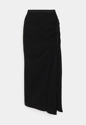 RUCHED SKIRT - Pencil skirt - black