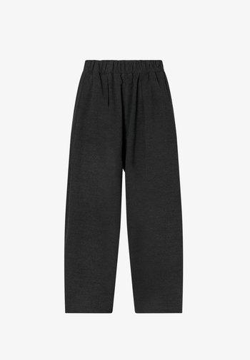 WIDE LEG FLANNEL  - Trousers - dark grey