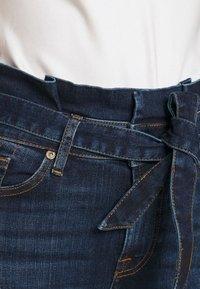 7 for all mankind - PAPERBAG PANT SOHO DARK - Slim fit jeans - dark blue - 5