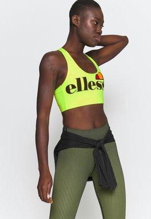 PRESELLE - Medium support sports bra - neon yellow