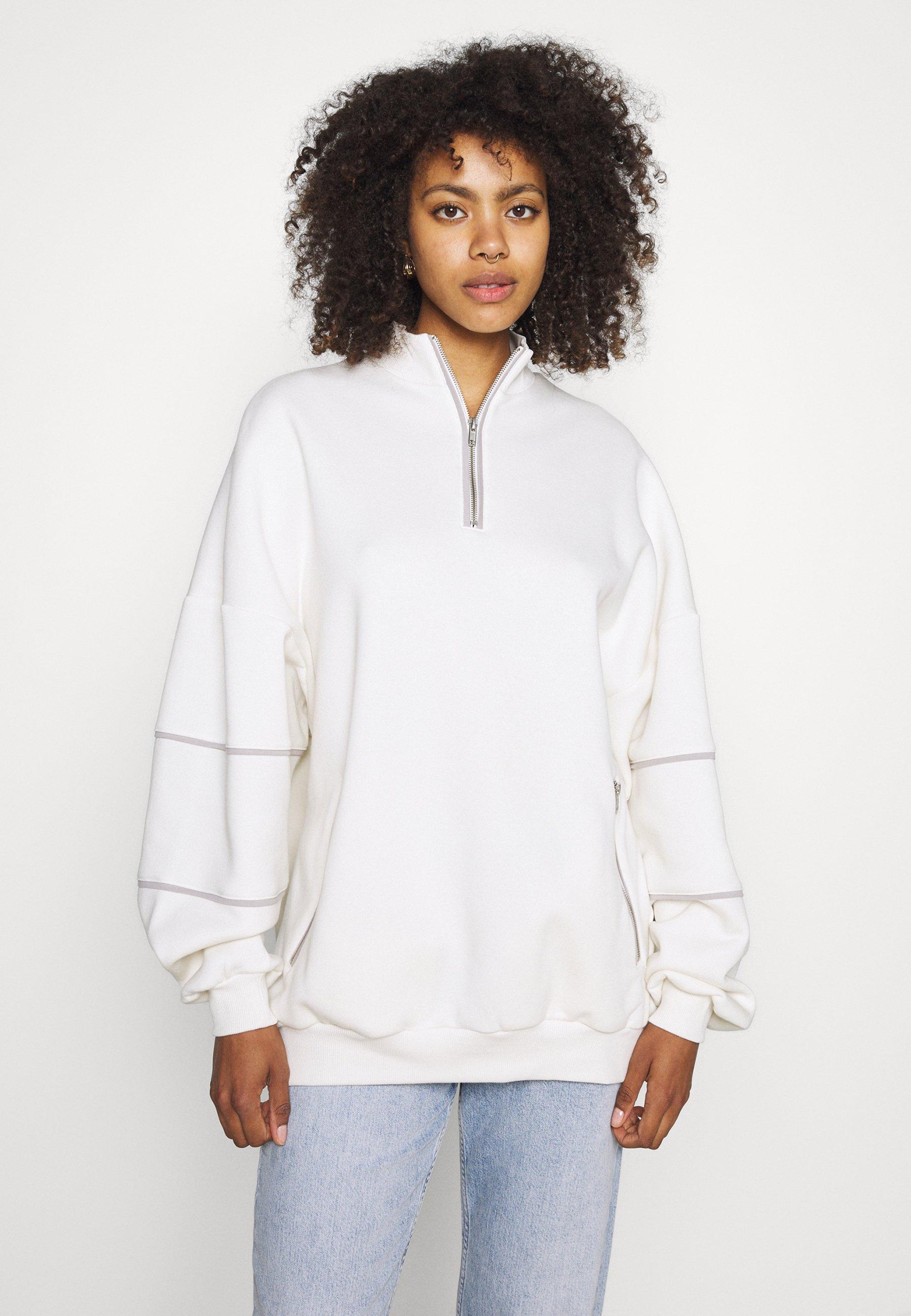 Women CONTRAST ZIP SWEATER - Sweatshirt