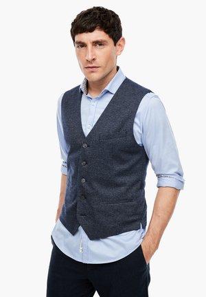 Waistcoat - dark blue check