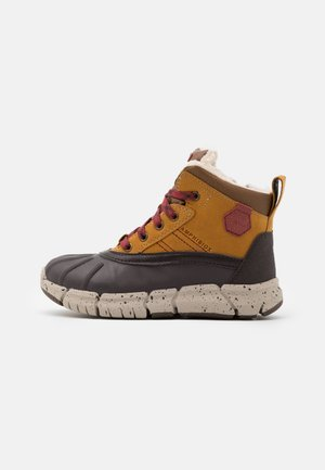FLEXYPER BOY  - Snowboot/Winterstiefel - light brown/dark red